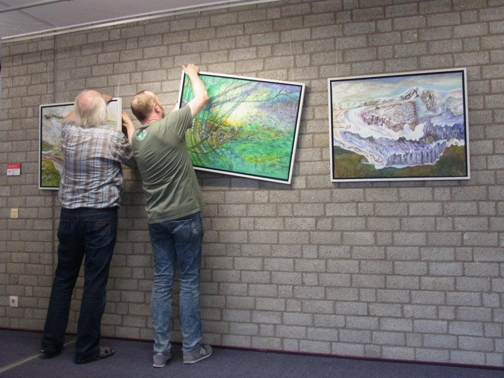 Vorbereitungen zur Ausstellung