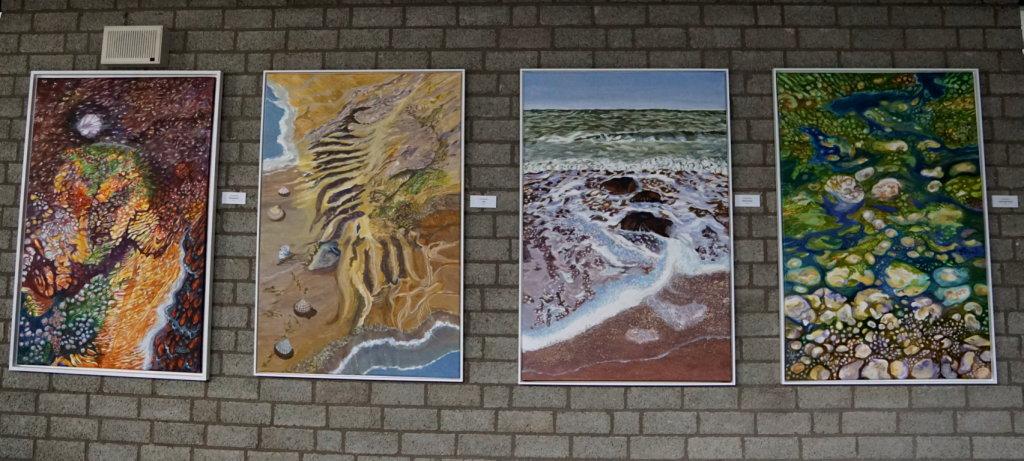 Gruppe aus 4 Acrylbildern (jeweils 80 x 120 cm)