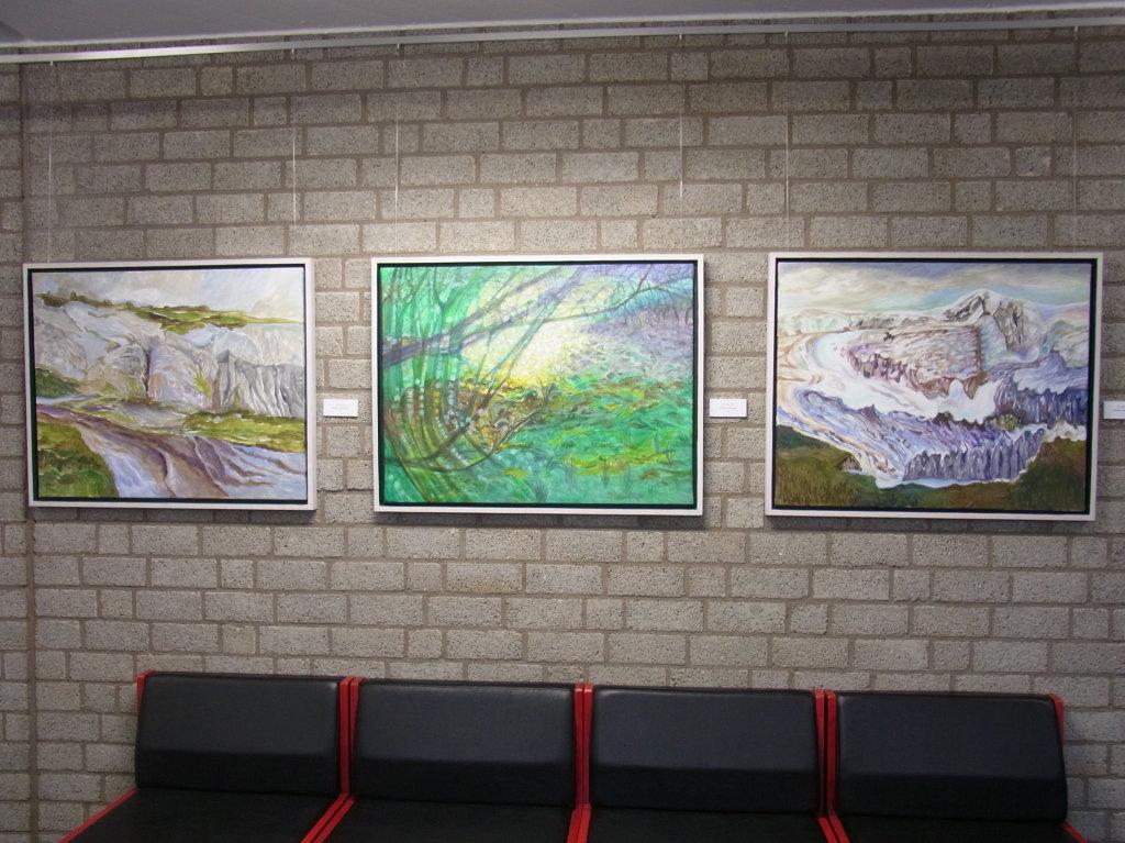 Gruppe aus 3 Acrylbildern (jeweils 90 x 75 cm)