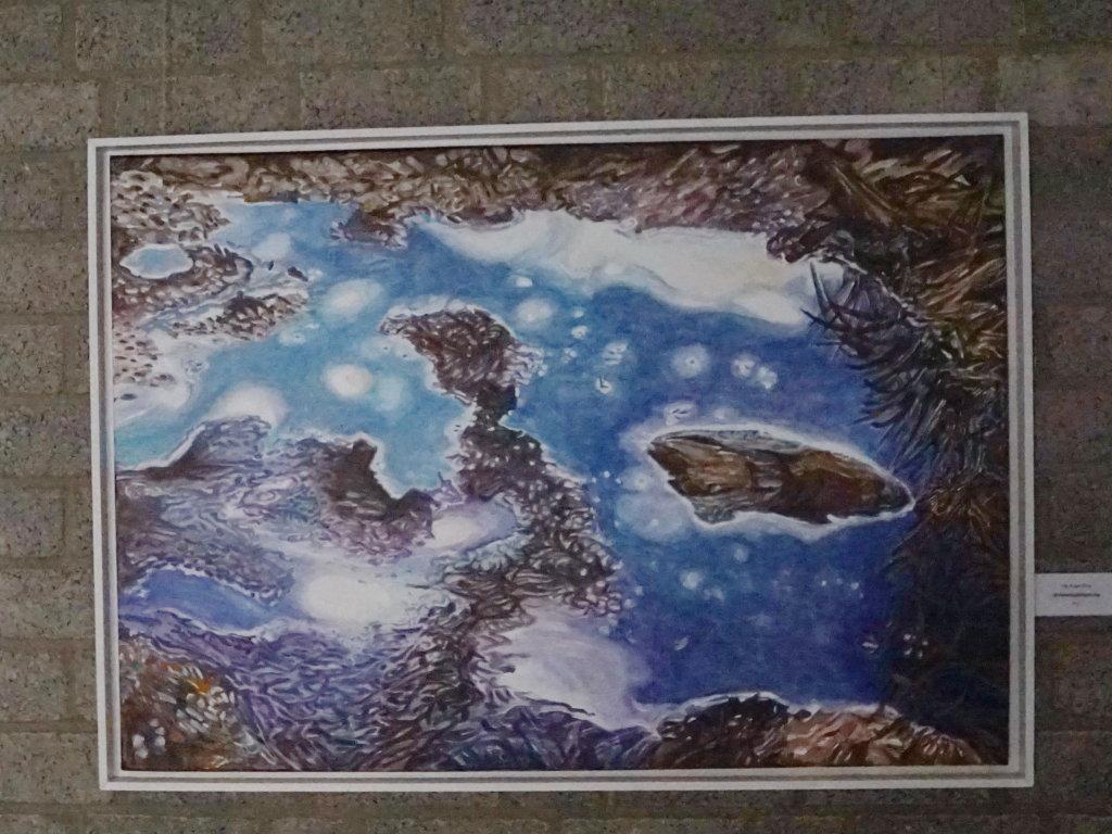 """""""Himmelsspiegelung"""" (Acryl 100 x 75 cm)"""