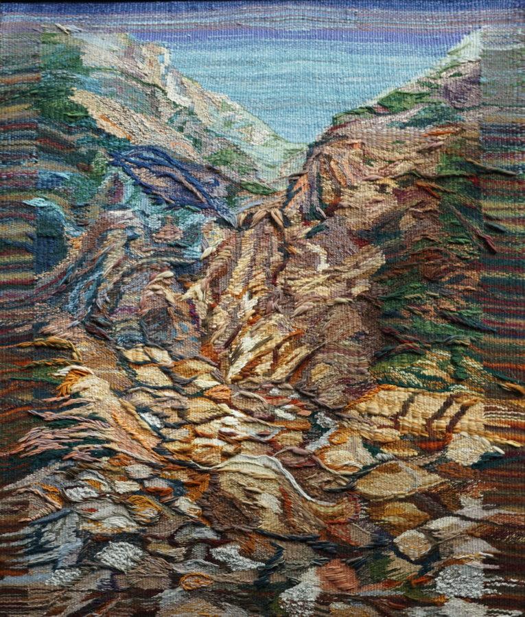 """""""Trocken gefallener Wasserfall"""" (Gobelin 100 x 130 cm)"""