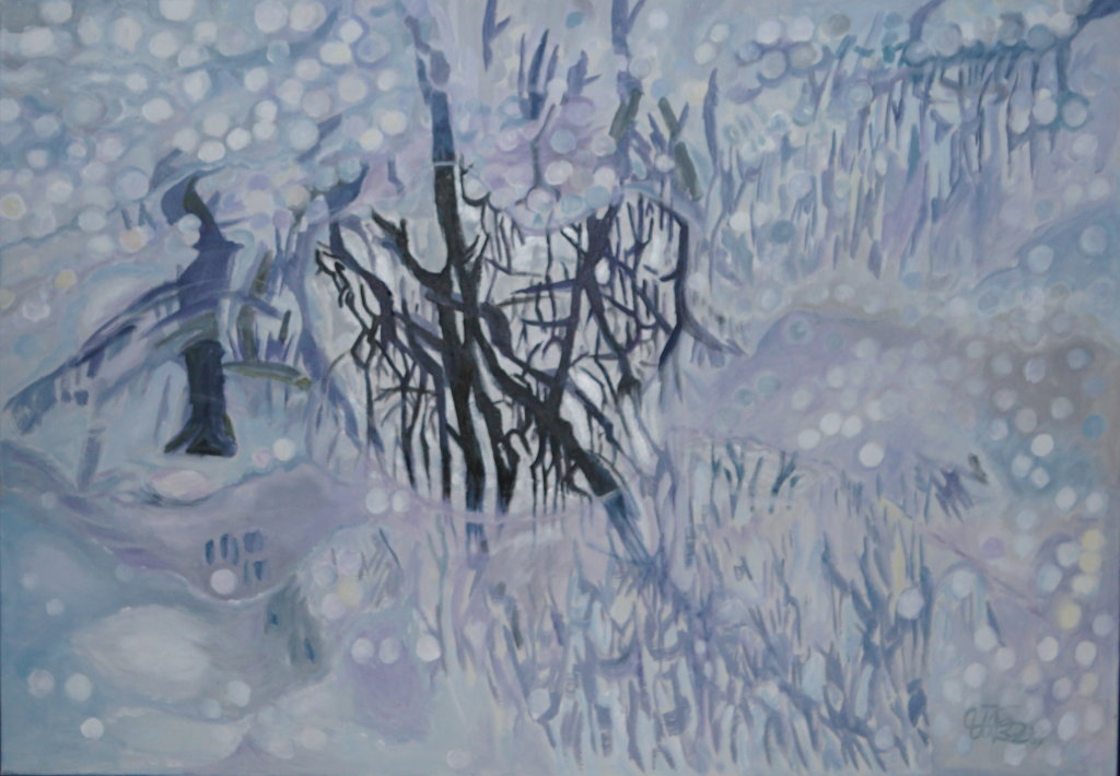 """""""Baumspiegelung"""" (Acryl 100 x 75 cm)"""