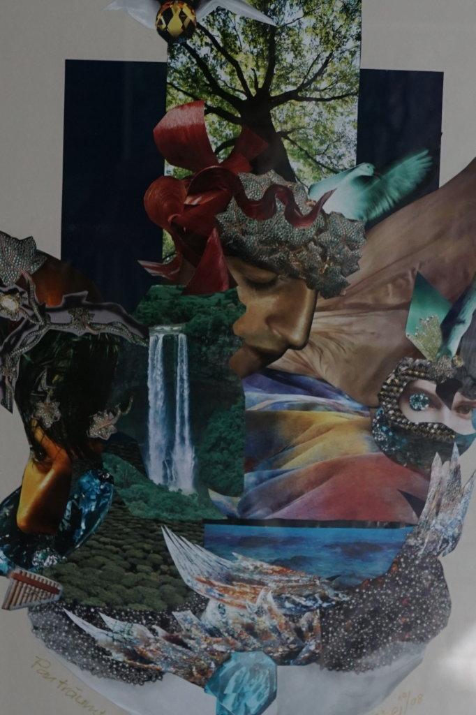 """""""Pan träumt sich jung"""" (Collage 50 x 70 cm)"""