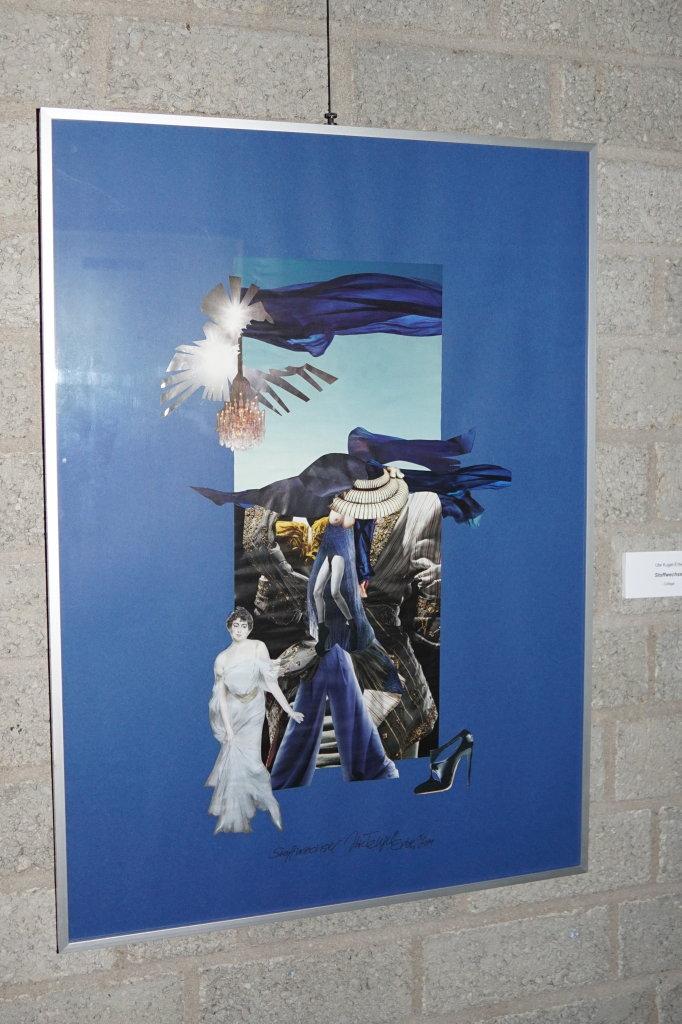 """""""Stoffwechsel"""" (Collage 50 x 70 cm)"""