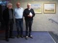 Die Organisatoren der Ausstellung: Jürgen Jesse, sein Chef Martin Großerüschkamp und Joseph Schräder (von links)