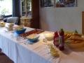Das Salatbuffet steht bereit