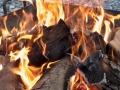 Das Feuer prasselt herrlich