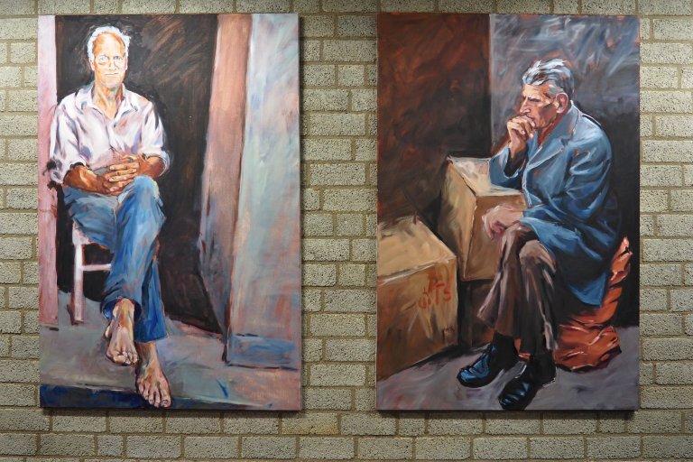 Ganzkörperportraits (Walter und Samuel Beckett)