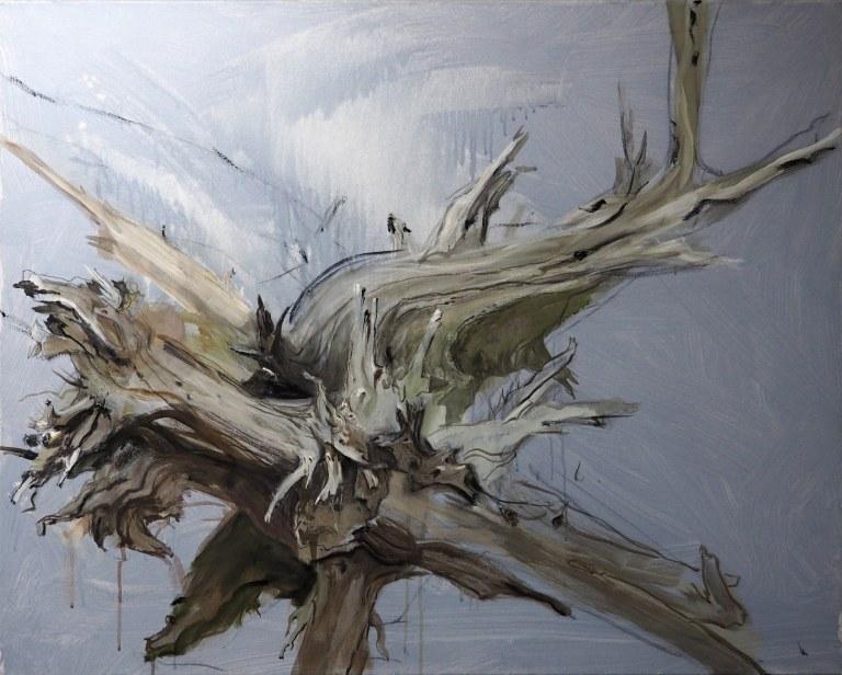 Wurzelwerk - 80 x 100 Öl auf Leinwand 2013