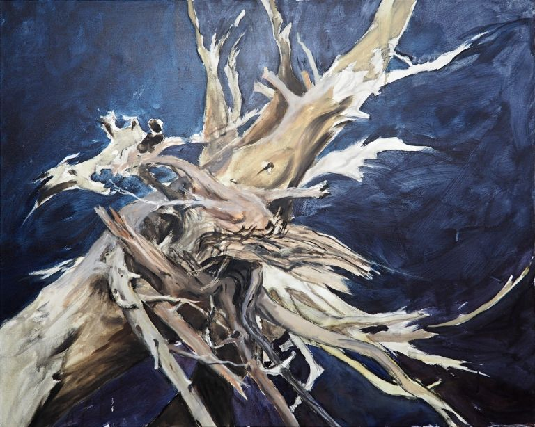 Wurzelwerk - 80 x 100 Öl auf Leinwand 2014