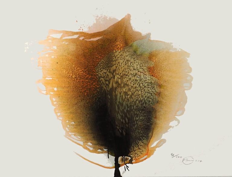 Otto Piene - Unkown tree - 2014 - Siebdruck auf Papier
