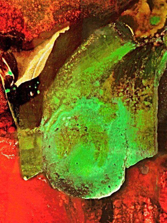Otto Piene - ohne Titel - 1990 - Siebdruck - Ausschnitt