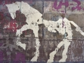 Weißes Pferd 1 - Mischtechnik auf Leinwand 85 x 140 cm