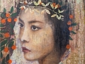 Principessa - Mischtechnik auf Leinwand 70 x 70 cm