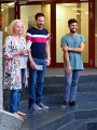Astrid Schütze, Alexander Daum und Tariq Alsaadi