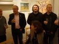 Siegmar Schröder (2. von-rechts) Leiter Theaterlabor Bielefeld mit großem Theaterabend zu Kroe