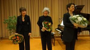 Therese Berger, Heidi Kommerell und Sabine Ritterbusch