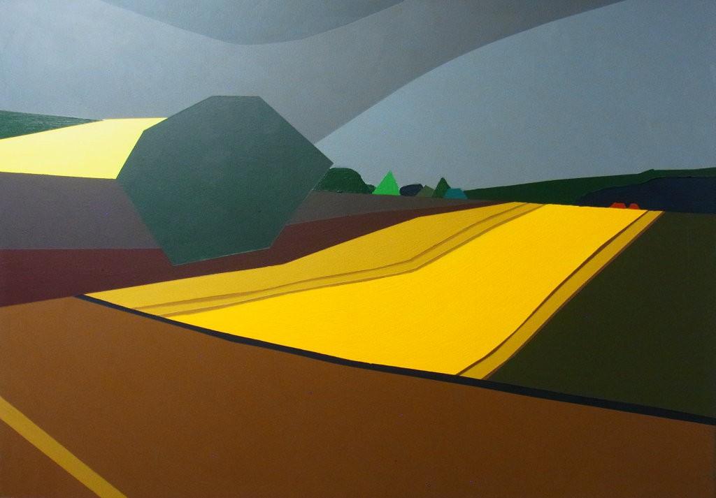 Landschaft mit Getreidefeld