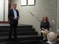 Bürgermeister Dirk Speckmann und Astrid Schütze, Vorsitzende des Kulturvereins Borgholzhausen