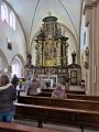 Blick in die Klosterkirche der katholischen Gemeinde St. Johannes Baptist