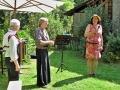 Anke Wienke begrüßt die Gäste und stellt das Duo Jadis (Conny Eickhoff und Harald Kießlich) vor