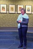 Birgit Schröter begrüßt als stellvertretende Bürgermeisterin die Gäste und freut sich, dass wieder Ausstellungen möglich sind