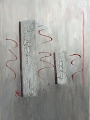 "Gertrud Hoppe: ""Krakelierlack"" - Acryl auf Leinwand 50x70 cm"