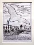 Siegfried Alexander Scholz - Venedig: Canal Grande mit Rialtobrücke