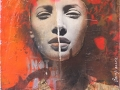 Hearts in my head 2 - Mischtechnik auf Leinwand - 53 x 42 cm