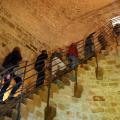 Aufstieg im Innern des Turms