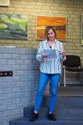 Lilian Wohnhas vom Böckstiegelmuseum führt in das Werk der Künstlerin ein