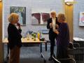 Astrid Schütze, Job Schräder und Rita Riedel im Gespräch