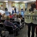 Yannick Averdiek wirbt mit seiner Performance für Stille
