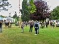 Blick auf den Garten des Schulze Cafés