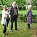 Birgit Schröter (Stellvertreterin des Bürgermeisters), Manfred Warias und Astrid Schütze (beide vom Kulturverein Borgholzhausen)