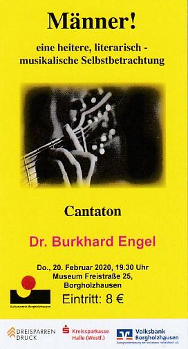 Dr. Burkhard Engel: Männer! - Eintrittskarte